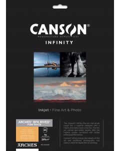 Papier CANSON INFINITY Arches® BFK Rives Pure White 310g A4 10 feuilles