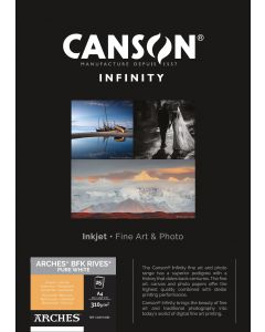 Papier CANSON INFINITY Arches® BFK Rives Pure White 310g A4 25 feuilles