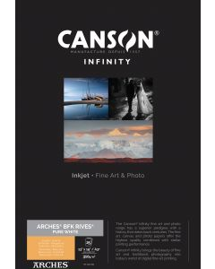 Papier CANSON INFINITY Arches® BFK Rives Pure White 310g A3+ 25 feuilles