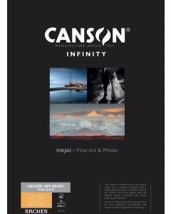 Papier CANSON INFINITY Arches® BFK Rives Pure White 310g A2 25 feuilles