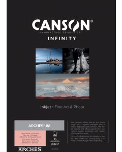 Papier CANSON INFINITY Arches® 88 310g A3 25 feuilles