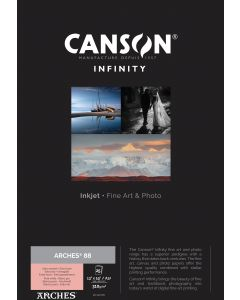 Papier CANSON INFINITY Arches® 88 310g A3+ 25 feuilles