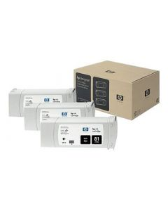 Cartouche C5066A (n°81) pour HP DesignJet Série 5000/5500 Noir 3-pack - 3 x. 680 ml