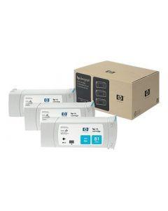 Cartouche C5067A (n°81) pour HP DesignJet Série 5000/5500 Cyan 3-pack - 3 x. 680 ml