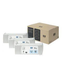 Cartouche C5070A (n°81) pour HP DesignJet Série 5000/5500 Light Cyan 3-pack - 3 x. 680 ml