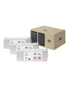 Cartouche C5071A (n°81) pour HP DesignJet Série 5000/5500 Light Magenta 3-pack - 3 x. 680 ml