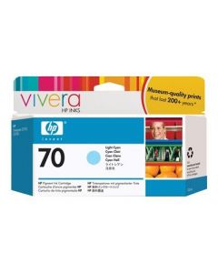 Cartouche C9390A (n°70) pour HP DesignJet Z2100/Z3100/Z3200 : Vivera Light Cyan