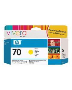 Cartouche C9454A (n°70) pour HP DesignJet Z2100/Z3100/Z3200 : Vivera Jaune - 130ml