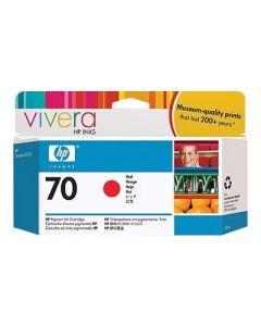 Cartouche C9456A (n°70) pour HP DesignJet Z3100 : Vivera Rouge - 130ml
