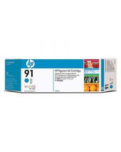 Cartouche C9467A (n°91) pour HP DesignJet Z6100 : Vivera Cyan - 775ml