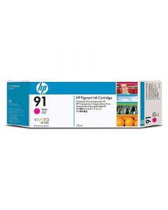 Cartouche C9468A (n°91) pour HP DesignJet Z6100 : Vivera Magenta - 775ml
