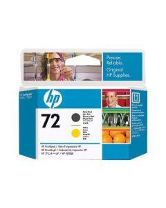 Tête d'impression C9384A (n°72) HP Designjet T610/T1100 : 1x Jaune & Noir Mat
