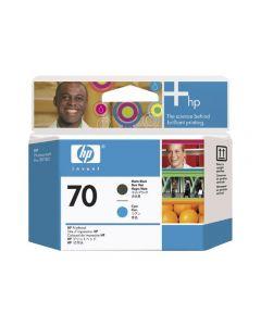 Tête d'impression C9404A (n°70) pour HP DesignJet Z2100 - B9180 : Noir Mat & Cyan