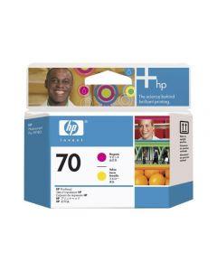 Tête d'impression C9406A (n°70)  pour HP DesignJet Z2100/Z3100/Z3200 - B9180 : Jaune & Magenta