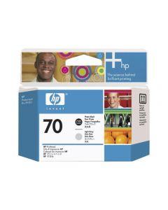 Tête d'impression C9407A (n°70)  pour HP DesignJet Z2100/Z3100/Z3200 - B9180 : Noir Photo & Light Gris