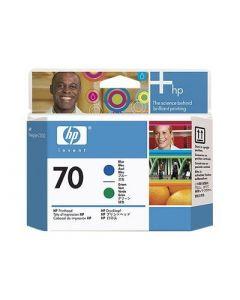 Tête d'impression C9408A (n°70)  pour HP DesignJet Z3100/Z3200 : Bleu & Vert