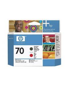 Tête d'impression C9409A (n°70)  pour HP DesignJet Z3100 : Noir Mat & Rouge