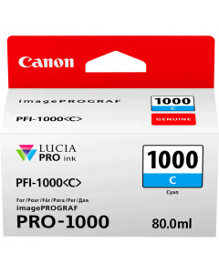 Cartouche d'encre Canon PFI-1000C (Cyan)