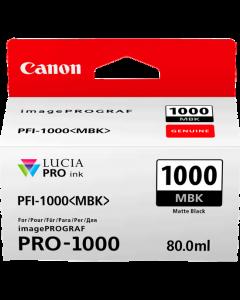 Cartouche d'encre Canon PFI-1000MBK (Noire Matte)