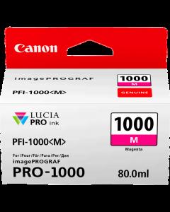 Cartouche d'encre Canon PFI-1000M (Magenta)