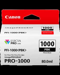 Cartouche d'encre Canon PFI-1000PBK (Photo Noire)