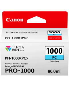Cartouche d'encre Canon PFI-1000PC (Photo Cyan)