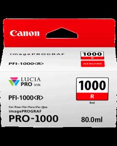 Cartouche d'encre Canon PFI-1000R (Rouge)