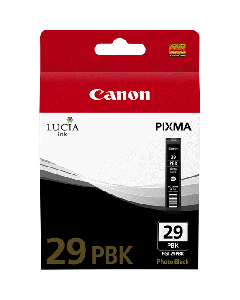 Cartouche d'encre Canon PGI-29PBK : Noir Photo - 36ml