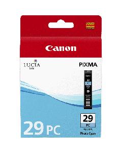 Cartouche d'encre Canon PGI-29PC : Photo Cyan - 36ml
