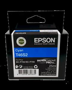 Encre Epson (25ml) pour SureColor P700 : Cyan (T46S200)