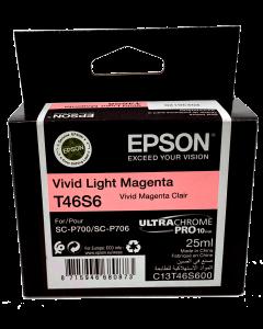 Encre Epson (25ml) pour SureColor P700 : Magenta Clair (T46S600)