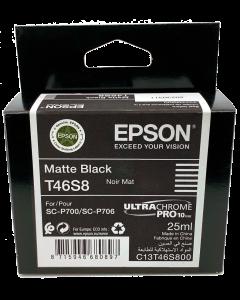 Encre Epson (25ml) pour SureColor P700 : Noir Mat (T46S800)