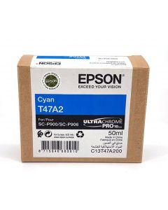 Cartouche d'encre Epson (50ml) pour SureColor P900 : Cyan - C13T47A200