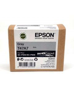 Cartouche d'encre Epson (50ml) pour SureColor P900 : Gris - C13T47A700