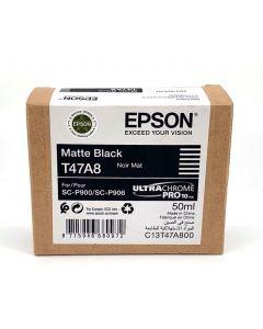 Cartouche d'encre Epson (50ml) pour SureColor P900 : Noir Mat - C13T47A800