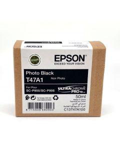 Cartouche d'encre Epson (50ml) pour SureColor P900 : Noir Photo - C13T47A100