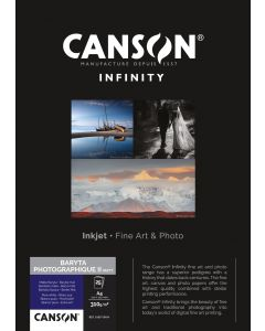 Papier CANSON INFINITY Baryta Photographique II 310g Mat A4 25 feuilles