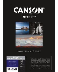 Papier CANSON INFINITY Baryta Photographique II 310g Mat  A2 25 feuilles