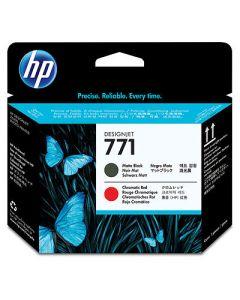 Tête d'impression CE017A (n°771) pour HP DesignJet Z6200 série : Noir Mat & Rouge Chromatique