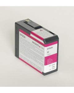 EPSON T580A (C13T580A00) - Cartouche d'encre Vivid Magenta - 80ml