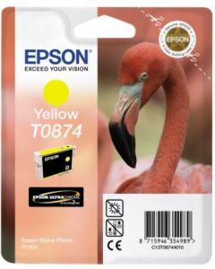 Encre Epson (Flamand Rose) pour Stylus Photo R1900 : High Gloss jaune (C13T8744010)