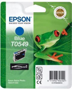 Encre Epson T0549 (Grenouille) pour Stylus Photo R800 et R1800 : bleue