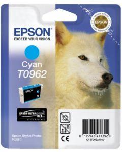 Encre Epson T0962 (Loup) pour Stylus Photo R2880 : cyan