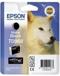 Encre Epson T0968 (Loup) pour Stylus Photo R2880 : noir mat