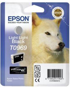 Encre Epson T0969 (Loup) pour Stylus Photo R2880 : gris clair