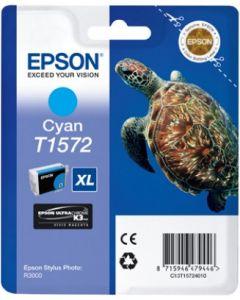 Encre Epson T1572 (Tortue) pour Stylus Photo R3000 : cyan (C13T15724010)