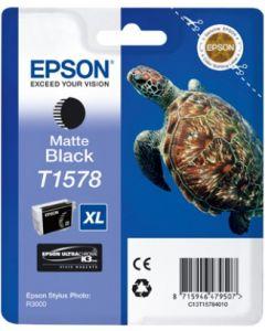 Encre Epson T1578 (Tortue) pour Stylus Photo R3000 : noir mat (C13T15784010)