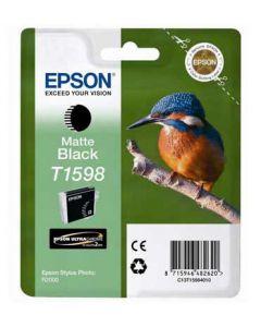 Encre Epson T1598 (Martin Pêcheur) Stylus Photo R2000 : noir mat