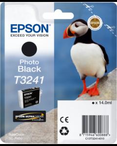 Encre Epson T3241 pour SureColor P400 : Noir Photo (C13T32414010)