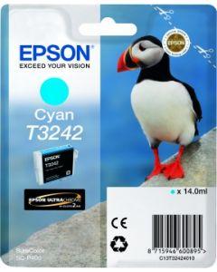 Encre Epson T3242 pour SureColor P400 : Cyan (C13T32424010)